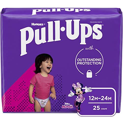 Pull-Ups Girls' Potty Training Pants Training Underwear Size 3, 12-24M, 25 Ct