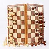 Riyyow Juego de ajedrez de Madera Plegable de ajedrez de ajedrez...