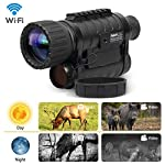 12MP WIFI Monocular Telescope, Bestguarder 6x50mm Digital Infrared Night Vision Multi-Purpose Monocular/Scope Records Day and Night IR Image & Video From 350m/1300ft in Full Darkness