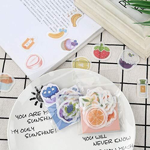Nette Banane Erdbeer Aufkleber Kawaii Frucht Zitrone Dekor Briefpapier Aufkleber Papier für Kinder Scrapbooking Tagebuch Supplies50pcs