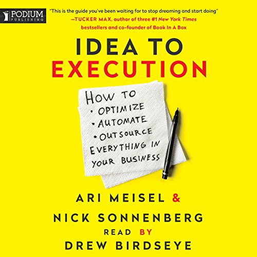 Idea to Execution audiobook cover art