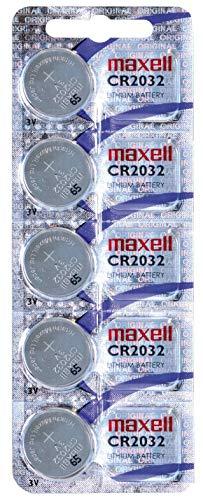 Pila de Boton de Litio 2032 maxell Pack 5 Pilas