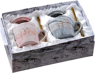 AMERTEER Coffee Mug Set 2 Pieces Set, 400 ml Capacity, assorted, LK279_2, Multicolored