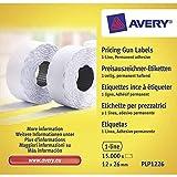 Avery PLP1226 Etichette per Prezzatrice, 1 Linea, Permanenti, 1500 Etichette per Rotolo...