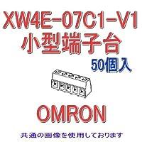 オムロン(OMRON) XW4E-07C1-V1 (50個入) プリント基板用端子台 小型端子台 7極 (端子ピッチ5.08mm) NN