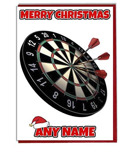 AK Giftshop Weihnachtskarte, personalisierbar, mit Dart-Motiv