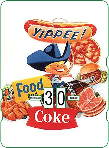 Calendario perpetuo Coca-Cola: Yippee! Food and Coke
