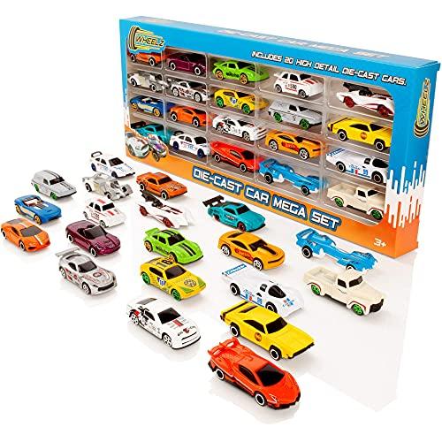 WHEELZ Die Cast Cars Set - Kinderspielzeug Rennwagen Mega 20er Pack - Kinder Pushalong Spielfahrzeuge