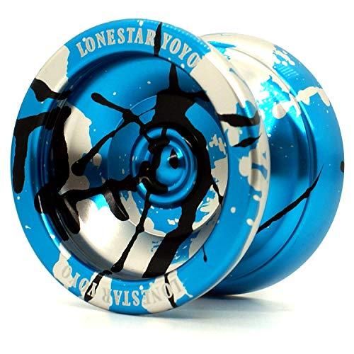 Supreme Yoyo Unresponsive Aluminum Yoyo with Extra Strings - Sidekick Lonestar Yoyo Series … (Blue, Black, Silver)