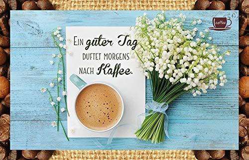 Ein guter Tag duftet morgens nach Kaffee.: Kaffeekarte