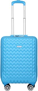United Colors of Benetton Knit Structure ABS 55 cms Blue Hardsided Cabin Luggage (0IP6MP20HL08I)