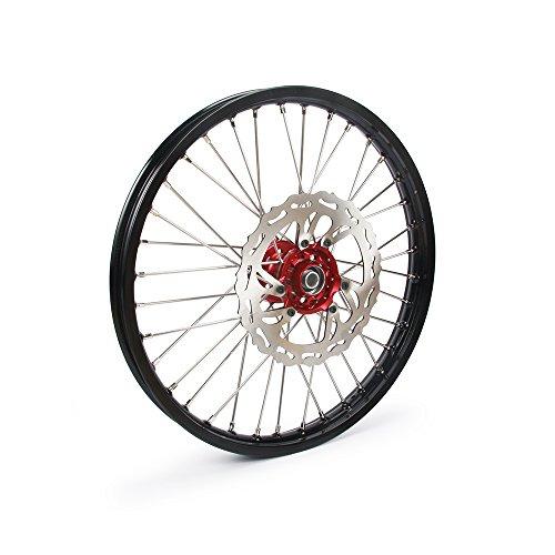 JFG Racing Moto Dirt Bike 1,6 x 21 Jantes Roues Avant avec Hubs, 260 mm Frein à Disque Avant pour h.o.n.d.a Crf250r 15-17 Crf450r 15-17