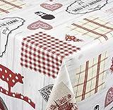 Venilia Nappe Country Linge de Table Toile cirée Maintenance réduite hydrophobes, Polyester, PVC, ovales, 140x 200cm, 55055, 140 x 200 cm