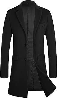 APTRO Men's Winter Trench Coat Slim Fit Wool Blend Long Pea Coat Jacket Business Suits