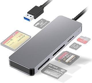 SD/CF Card Reader, Takya Multifunctional USB3.0 Memory Card Reader for Camera Memory Cards Micro SD/SDXC/CF/SD/SDHC/MS/XD/...
