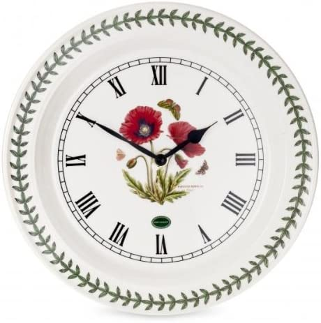 Portmeirion Home Gifts Botanic Opening large release sale Nippon regular agency Clock-Portmei Garden Wall Poppy