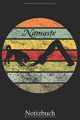Namaste: Yoga Mit Hund Notizbuch, Notizheft, Schreibheft, Tagebuch (Taschenbuch ca. DIN A 5 Format Liniert) von JOHN ROMEO: Joga Meditation Buddhismus ... Frauen, Männer und Kinder – Von JOHN ROMEO
