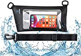 SYOSIN Waterproof Fanny Pack Pouch, Waterproof Waist Bag with Adjustable Waist Strap,Screen Touch Sensitive Zipper TPU Coated for Dry Bag- Perfect for Beach, Boating, Kayaking and Travel,Black