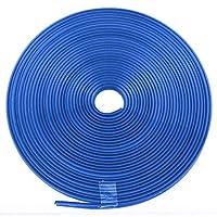 プロホイールリムプロテクター、ホイールハブステッカーストリッププロテクターラバーシールプロテクターカータイヤデコラティブトリムリムカーボート用 青い