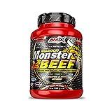 Amix - Monster Beef Protein - Suplemento Alimenticio - Mejora del Rendimiento - Proteína de Suero - Glutamina en Polvo - Nutrición - Proteína de Ternera - Sabor Chocolate - Bote de 1 Kg