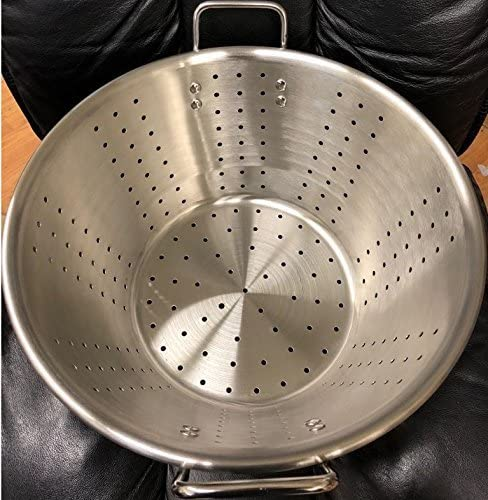 """lowest Restaurant high quality Quality Large Thick Stainless Steel Colander new arrival Food Vegetable Strainer Caso Colador 15""""X8"""" online"""