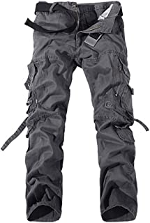 [フロラン](Froyland) カーゴパンツ メンズ 登山 ミリタリー ワークパンツ ストレート カーゴ イージーパンツ