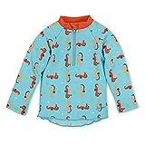 Sterntaler Jungen Schwimmshirt, Langarm-Badeshirt, UV-Schutz 50+, Alter: 9-12 Monate, Größe: 80, Meeresblau