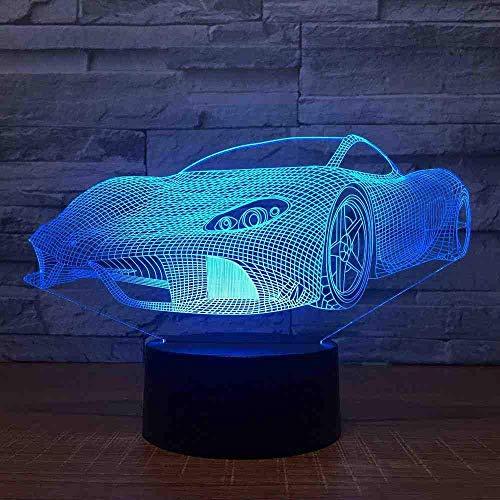 Moden Super Racing Car 3D 7 Farblampe Visuell Led Nachtlichter Für Kinder Touch Usb Tisch