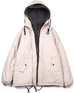 メンズパーカーフード付き冬のジャケットは、暖かいコートを太めファッションソリッドファスナーアウトウェア