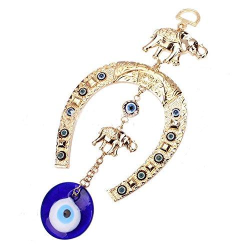 kiwilife Evil Eye Hanging Pendant Blue Eye Hamsa...