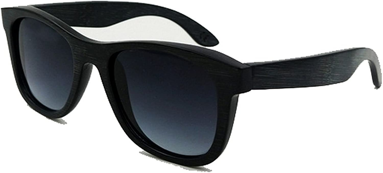 Fashion Shades Vintage Full Frame Ecologic Black Bamboo Sunglasses colord Lens UV400 Predection Men Women Eyes Predection (color   Black)
