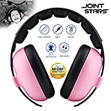 JOINT STARS Baby Noise Cancelling Headphones, Baby Earmuffs, Baby Headphones, Baby Ear Protection, Baby Headphones Noise Reduction, Pink