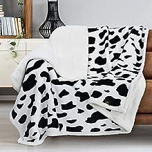 Catalonia Classy Manta sherpa gris, extragruesa, cálida, para sofá o sofá, en dos caras, forro polar, para sofá o salón, 150 x 130 cm, dálmata
