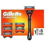 Gillette Fusion 5 Maquinilla de Afeitar Hombre + 6 Cuchillas de Recambio