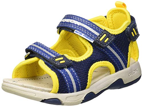 Geox Baby Jungen B Multy Boy a Sandalen, Blau (Navy/Yellow C0657), 27 EU