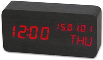 WYN123 Despertador Digital Reloj de Mesa para Sala de Estar de la Oficina del Dormitorio,