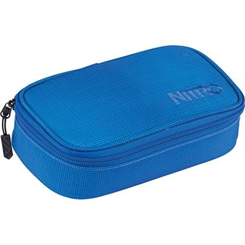 Nitro Pencil Case XL inkl. Geo Dreieick & Stundenplan, Federmäppchen, Schlampermäppchen, Faulenzer Box, Federmappe, Stifte Etui,  Blur Brill. Blue