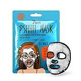 7DAYS Mascarilla Fizz 1 Unidad Bubble Negra Máscara De Tejido Fórmula Oxígeno Ácid+ Complejo Carbón Reduce El Enrojecimiento Purifica Los Poros 25g