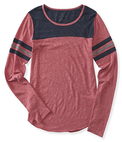 AEROPOSTALE Womens Athletic Embellished T-Shirt, Red, Medium