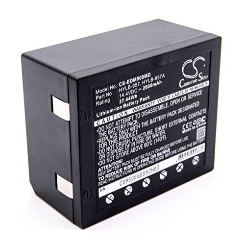 vhbw Li-Ion batería 2600mAh (14.4V) para dispositivo médico monitor de pacientes Edan M8A, M9, M9B por HYLB-957, HYLB-957A.