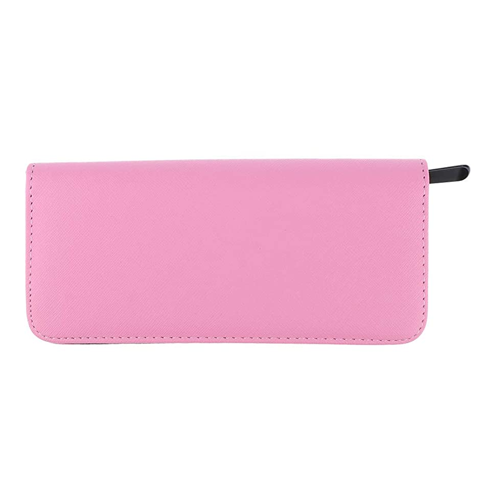Flameer Large Hair Stylist Scissor Holder Pouch Cases for Hairdressers, Salon Tools Holster Bag, Pu Leather - Pink, as described