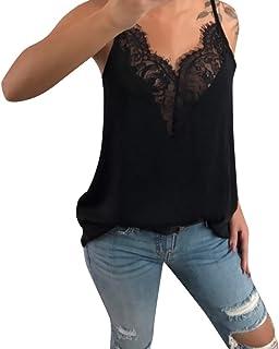 comprar comparacion Luckycat Top Sin Manga Mujer Fiesta Camisetas Sin Manga Mujer Camisetas Mujer Verano Blusa Mujer Sport Tops Mujer Verano C...