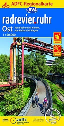 ADFC-Regionalkarte radrevier.ruhr Ost, 1:50.000, reiß- und wetterfest, GPS-Tracks Download: Von Bochum bis Hamm, von Haltern bis Hagen (ADFC-Regionalkarte 1:50000)