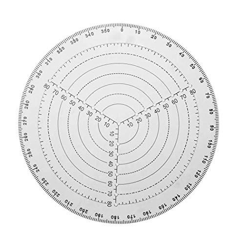 shentaotao Center Finder Tool Acryl 30cm Weiß Holzverarbeitung Runde Kompass Für Woodturner Dreharbeiten Zeichnung Kreise
