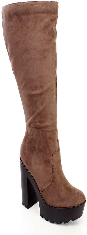 Lust Have Knee High Chunky Heel Dress Boots