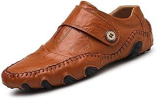 LIXIAOLAN - Scarpe da ginnastica da uomo in pelle casual, traspiranti, alla moda, colore: Nero/Marrone, 42