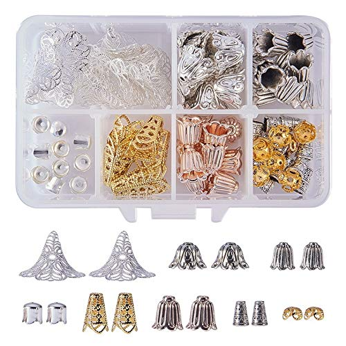 Neue Art und Weise DIY Schmuck handgemachte Zusätze Set, Ohrring-Legierung Eisen-Korn-Kappen gemischt Ohrringe Makings