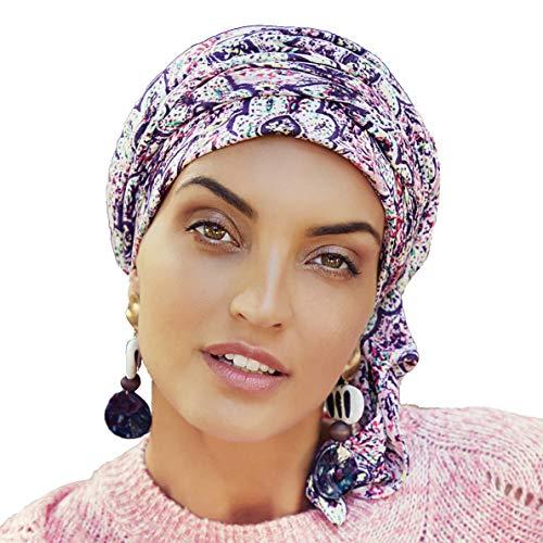 Boho Spirit Wandlungsfähiger Turban in Kreppgewebe für die Moderne, unkonventionelle Frau - Sapphire (Marokkanische Stimmung)