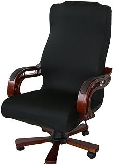 Funda para silla de escritorio de Zyurong, extraíble, lavable, protección para tu silla de oficina, giratoria y de escritorio, tamaño S (solo incluye la funda), negro, Large