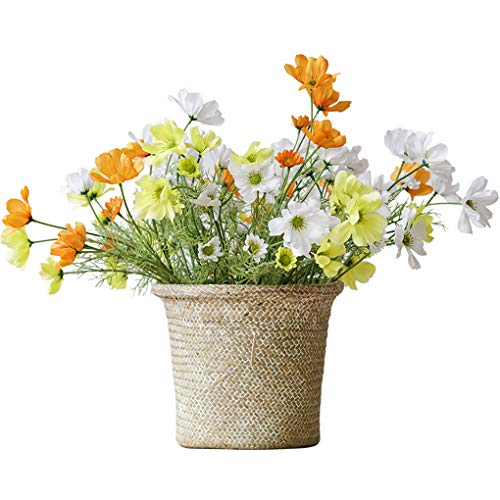 Sarazong Algue tissé Panier de Rangement Panier Meubles de Salle à Manger décoratif Floral Faux Fleur Bourgeon Fleur Artificielle Bouquet de Fleurs Faux Fleur de Haute qualité Fleur,Gray